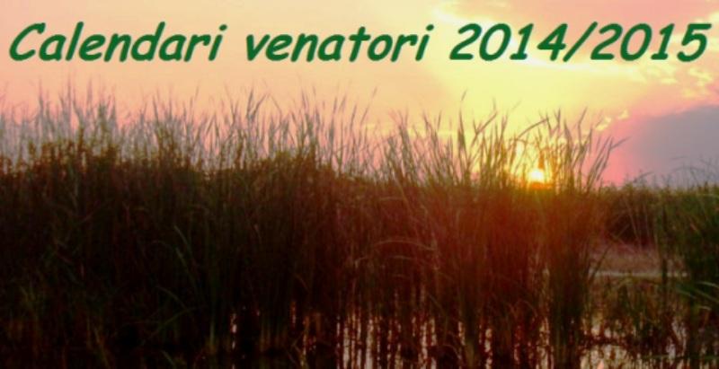 Regione Calabria Caccia E Pesca Calendario Venatorio.Calendari E Regolamenti Venatori 2014 2015 Cpa Caccia