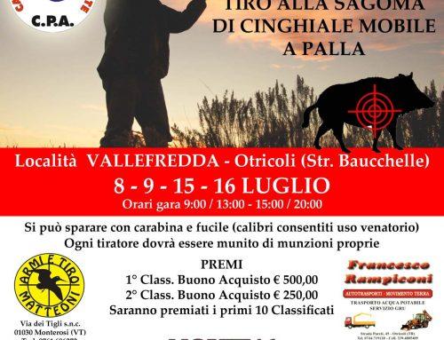 8° edizione TIRO ALLA SAGOMA DI CINGHIALE MOBILE A PALLA