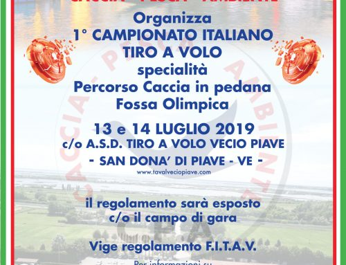 1° CAMPIONATO ITALIANO C.P.A. TIRO A VOLO – VENETO
