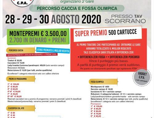 4° TROFEO SAN LORENZO – 28/29/30 AGOSTO 2020 – TAV SCORRANO (LE)