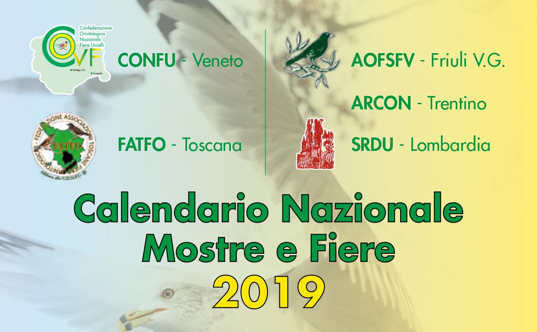 Calendario Nazionale Mostre e Fiere 2019
