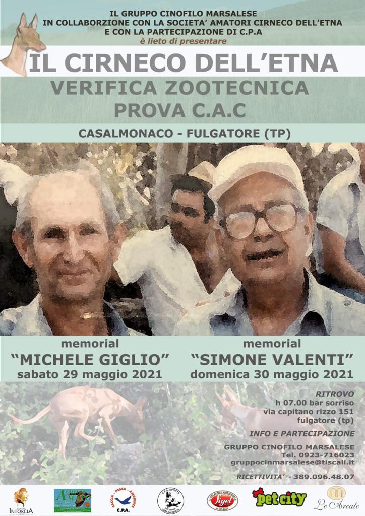 """""""IL CIRNECO DELL'ETNA"""" – 29/30 MAGGIO 2021 – CASALMONACO-FULGATORE (TP)"""
